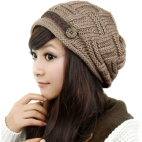 Stretch Crochet Knit Winter Beanie Hat