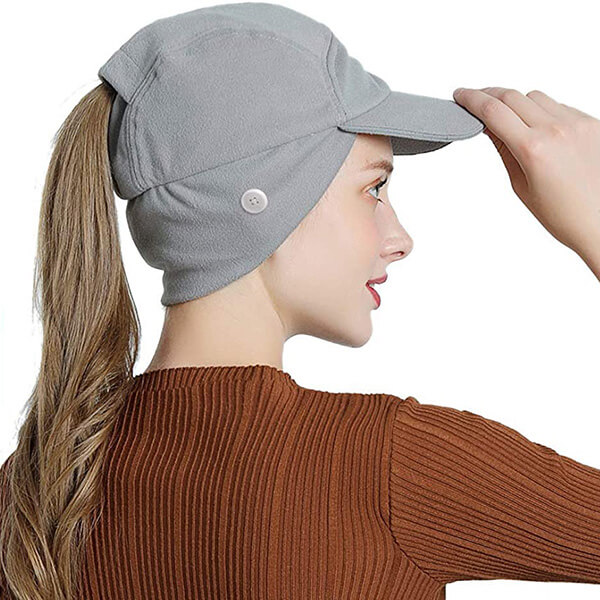 Messy Bun Baseball hat with Button