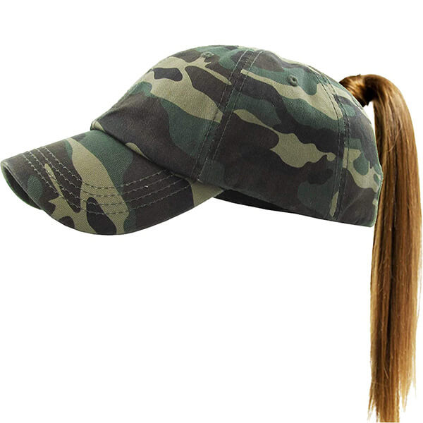 100% Cotton ponytail Baseball Cap