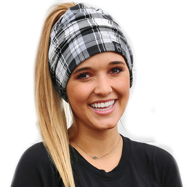 Slouchy Beanie with Ponytail Hole
