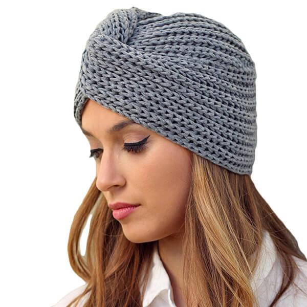 Knitted Turban Girl's Beanie Hat