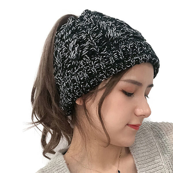 Twist and Cable Knit Cute Beanie Hats