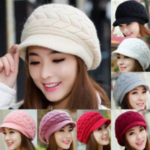 Baggy Knitted Beanie With Brim