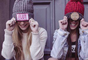 Cute girls with beanie