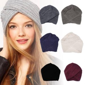 Boho Style Soft Wool Crochet Knitted Beanie