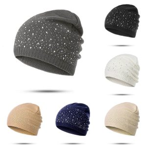 Diamonds Glistening Winter Beanie Hat