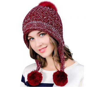 Ear Flaps, Dual Layered Winter Thick Beanie Hat