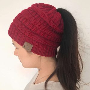 Girl Ponytail Beanie Hats