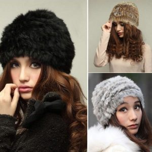 Russian Real Rabbit Fur Knitted Cap