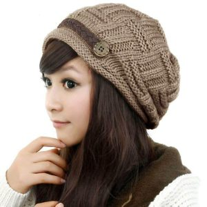 Stretch Crochet Knit Winter Beanie Hat