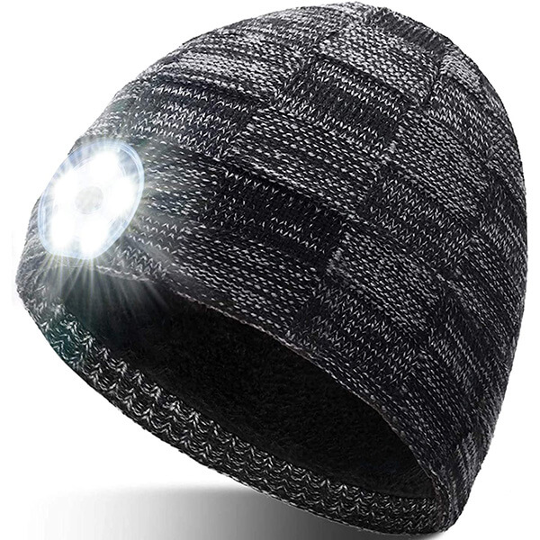 LED Beanie Hat with Headlight