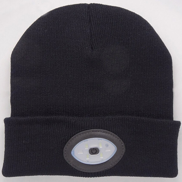 Removable Built-In 6 LED Head Light Beanie