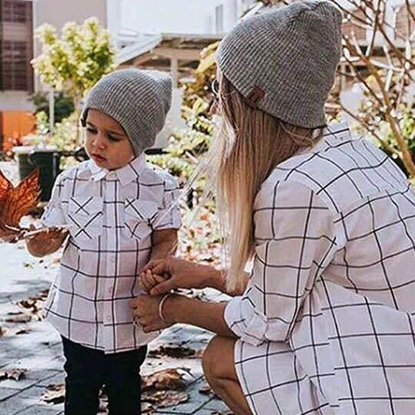 Rib-knit Matching Family Beanies