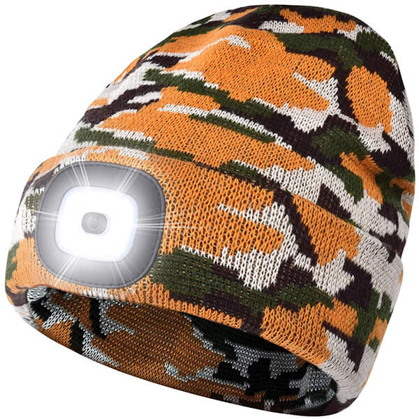 Camouflage Beanie with LED Light