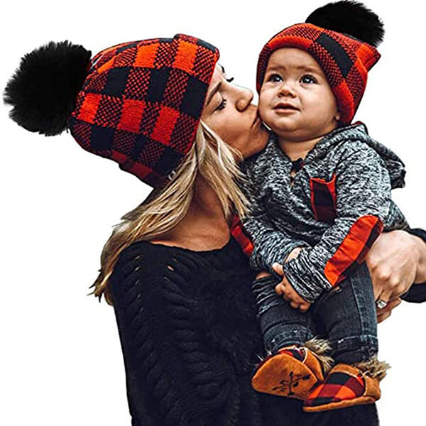 Christmas Mother and Baby Hat