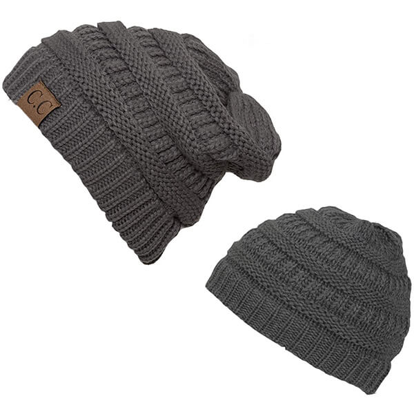 Mommy and Daughter Soft Family Beanie