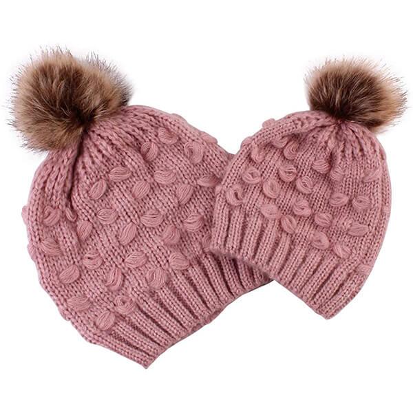 Puff Stitch Pattern Matching Family Hats