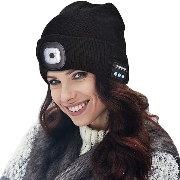 Bluetooth Beanie Hat with Light