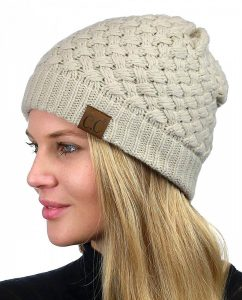 BRIGHT AND BOLD | Basket Weave Beanie