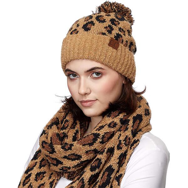 Leopard Print C.C Beanie Hats