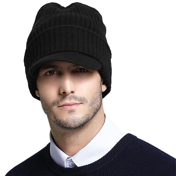 Men's Australia Merino Wool Visor Beanie