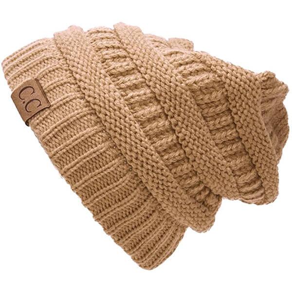 Slouchy Knit C.C Beanie Hat