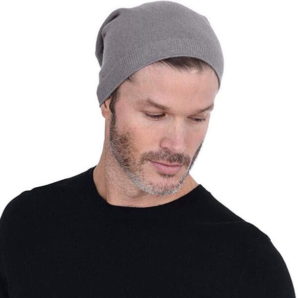 Slouchy Simple Knit Merino Wool Beanie