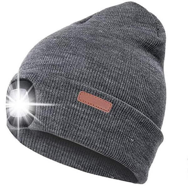 Large Headlamp Beanie Hat