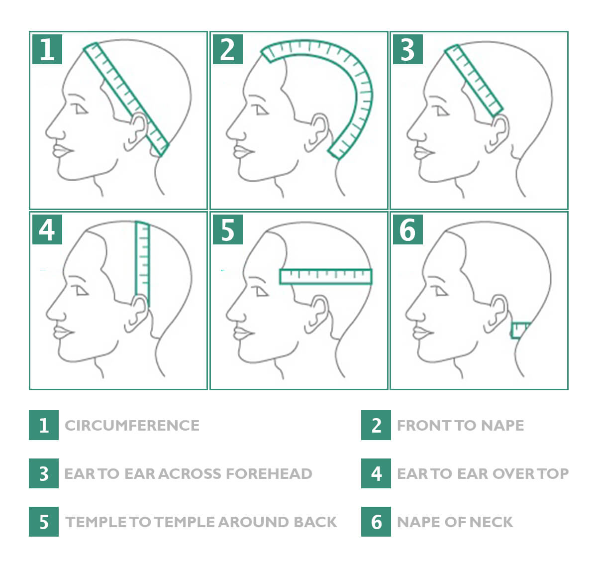 Measure Your Head Beanie Hat Size Chart