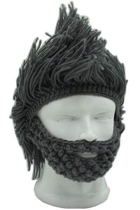 MANLY MOHAWK | FUNNY BEANIES FOR GUYS
