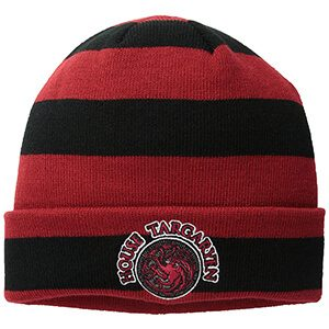 Game of Thrones Beanie with Targaryen Patch