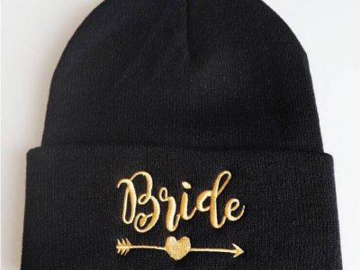 new-bride-and-team-bride-beanies-squad-hat-bachelorette-party-bridal-skullies-maroon-black-with-golden-letter