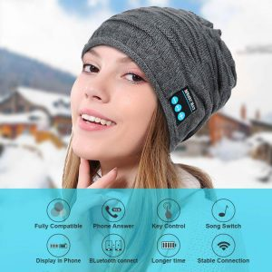 Stylish Bluetooth Beanie Built-in Microphone