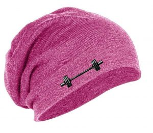 Barbell Weightlifting Slouch Beanie