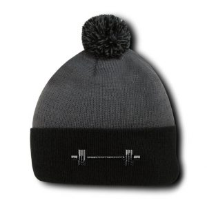 Barbell Pom Pom Beanie for Gym