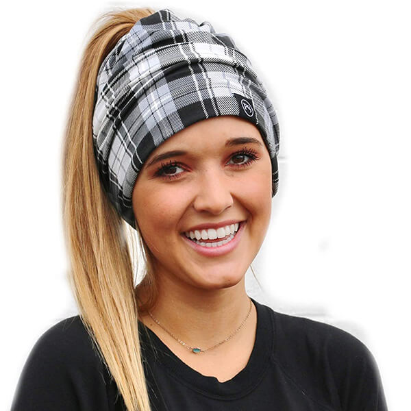Slouchy Beanie with Ponytail Hole for Workout