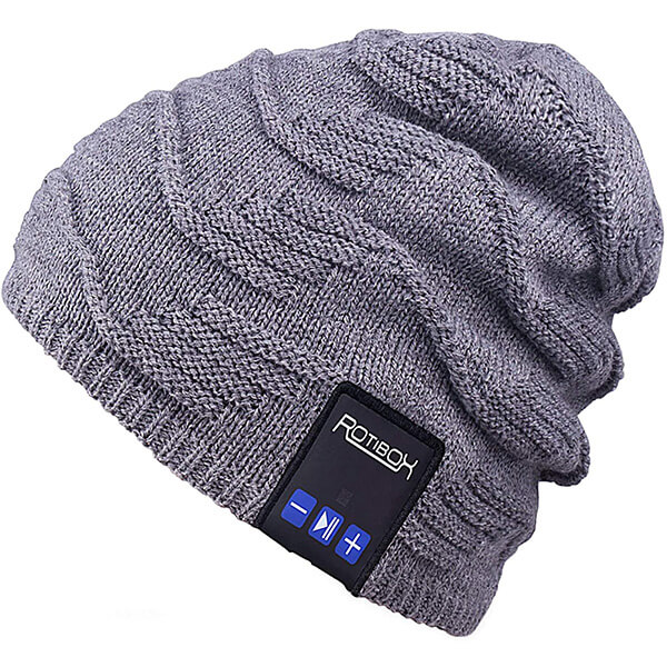 Knit Gym Hats with Built-in Headphones