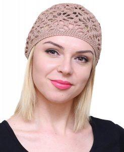 Lacy Crochet Beanie