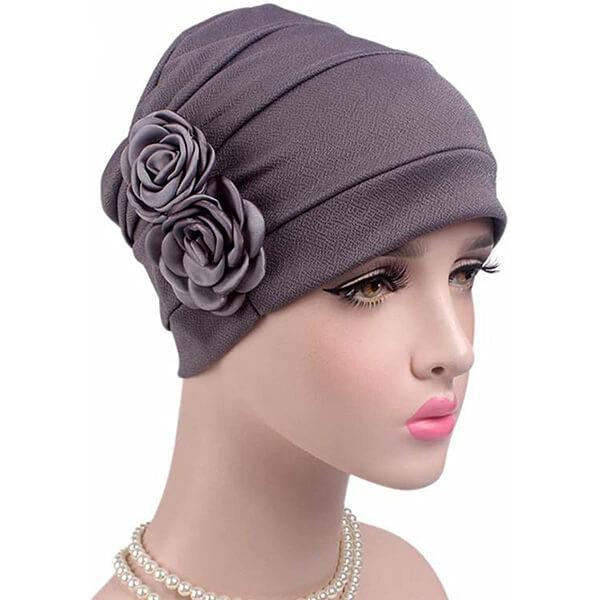 Flower Chemo Turban Headband