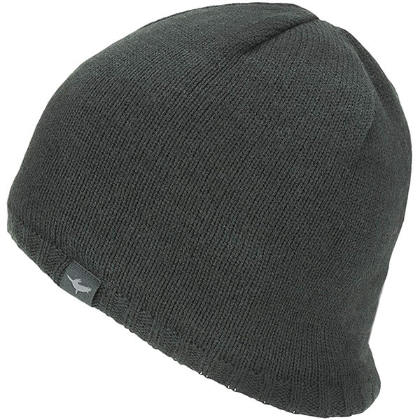 Black Close-fitting Waterproof Beanie Hat