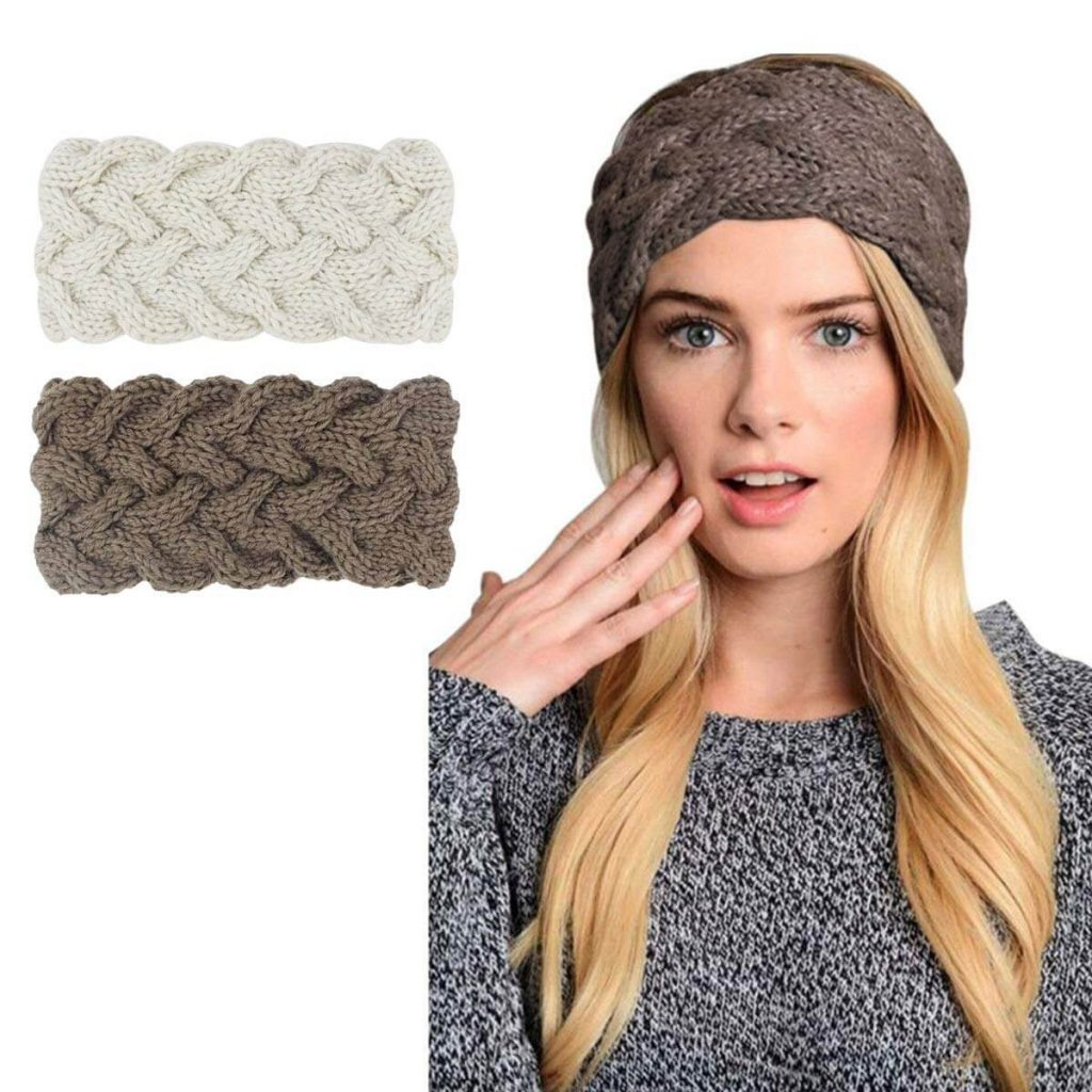 Crochet twist knit headband