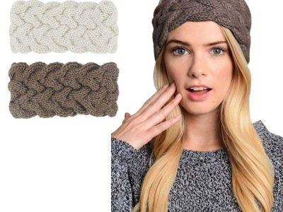 Crochet twist knit headband