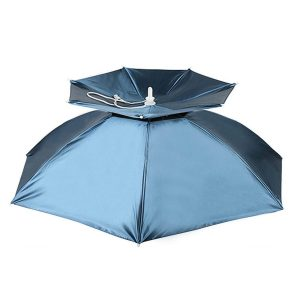 Double canopy UV umbrella hat