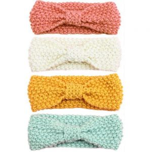 Wool Knitted Baby Girl Headband