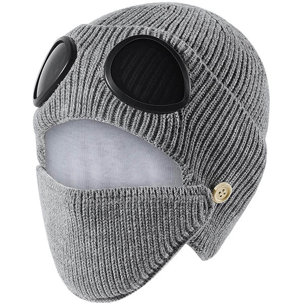 Beanie Hats with Masks, Goggles and Earflap