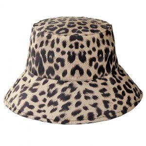 100% Polyester Leopard Print Bucket Hat