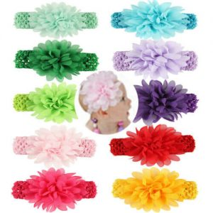 Chiffon Flower Knit Headband