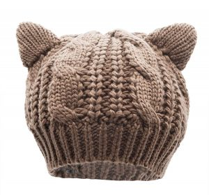 Crochet Braided Cat Ear Beanie