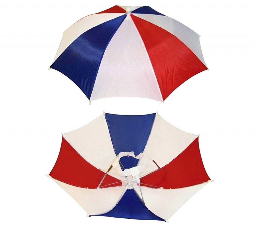 Three colors, four-pack umbrella hat