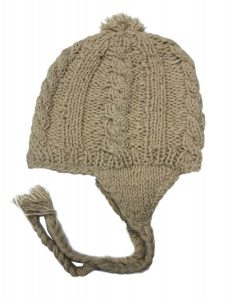 Wool Beanie with Earflaps for Women and Men